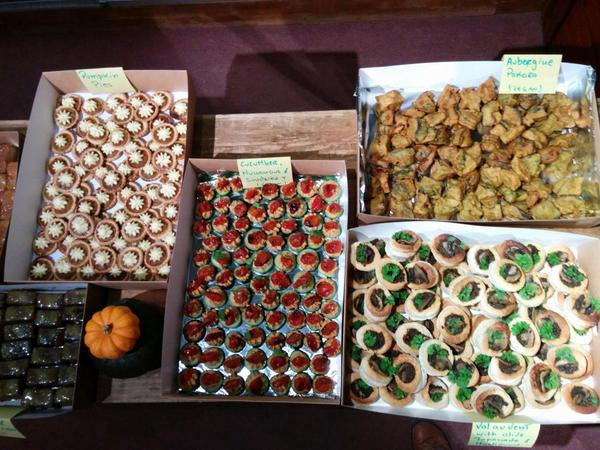 Delicious snacks by @DonDoorstep at the #pumpkinrescue launch - 90% from food waste! @oxfordfoodbank @hubbubUK http://t.co/6wStuzfXOW