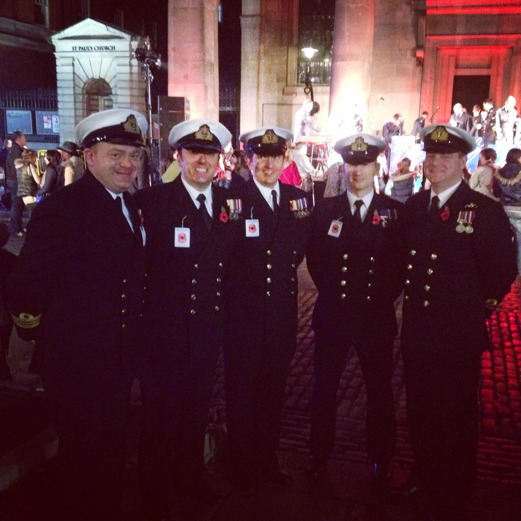 RT @PoppyLegion: The #RoyalNavy from JTEPS Northwood were collecting at Bond St today. Thanks guys! #LDNPoppyDay http://t.co/9ixMjSmf7Q