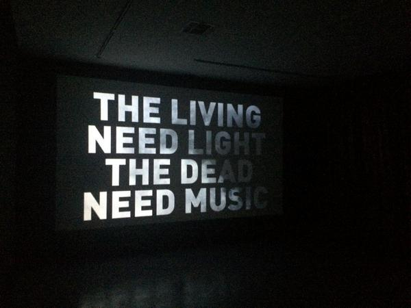 Image result for living need light dead need music