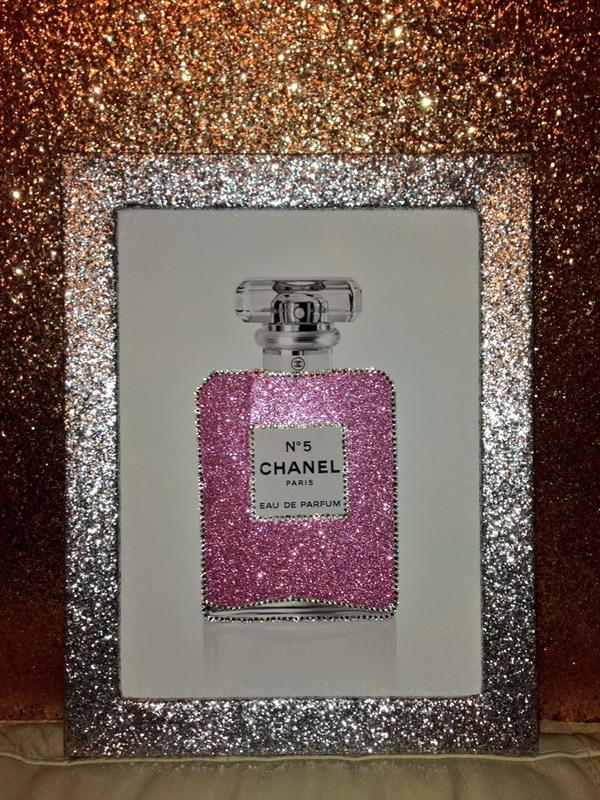 "Glitter Wall Art glitter walls uk on twitter: ""#stunning #chanel #chanelno5"