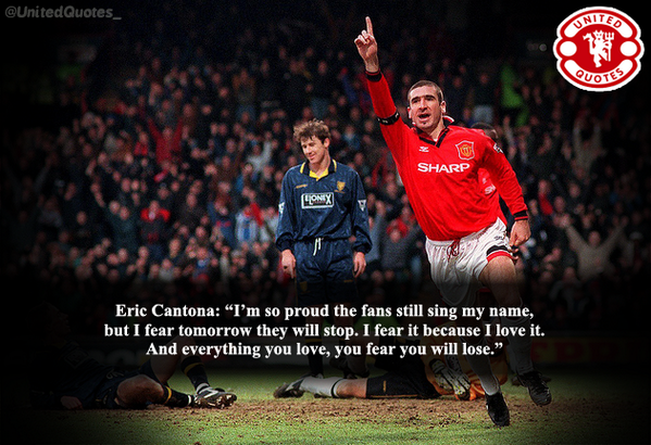 United Quotes On Twitter Eric Cantona On The Manchester United Fans Singing His Name Mufc Http T Co Fvmwpgfkar