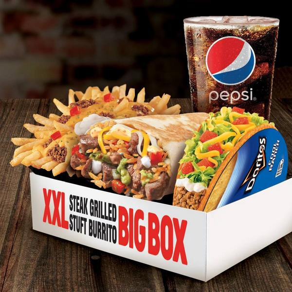 Taco Bell Canada on Twitter  Youu0027re going to need a bigger appetite u2014The #XXLSteakGrilledStuftBurrito Big Box is here for just $9.99. ... : taco bell big boxes - Aboutintivar.Com