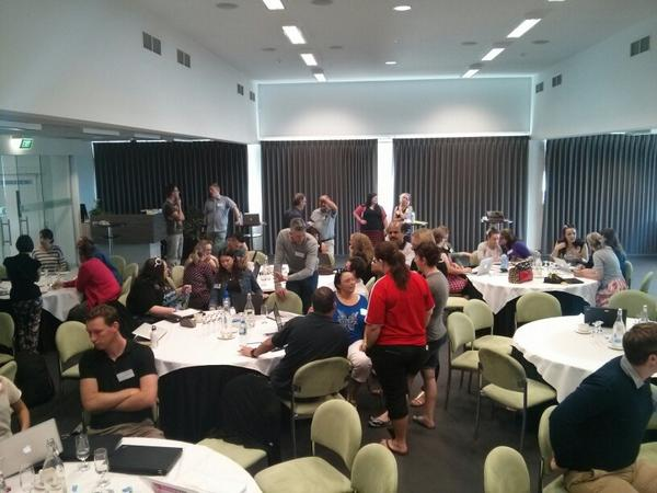 Informal sharing at #TL21C  loads of professional learning happening perfect segue from @mrpbps keynote http://t.co/p7E0NIdS0E