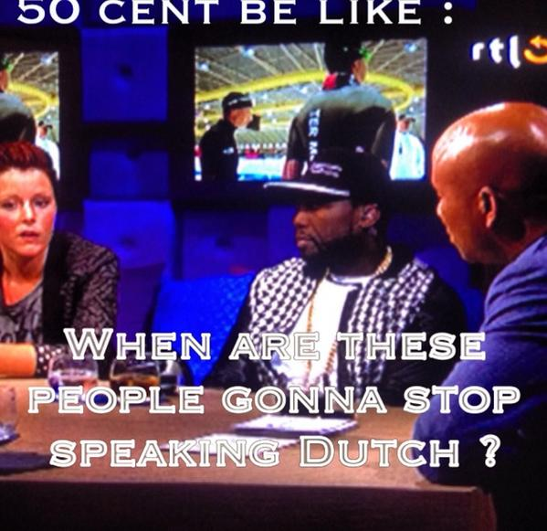I love my bro @HumbertoTan & crew @RTLLateNight but they let the boss @50cent wait mad long before his intv started! http://t.co/U9MEFLlO9t