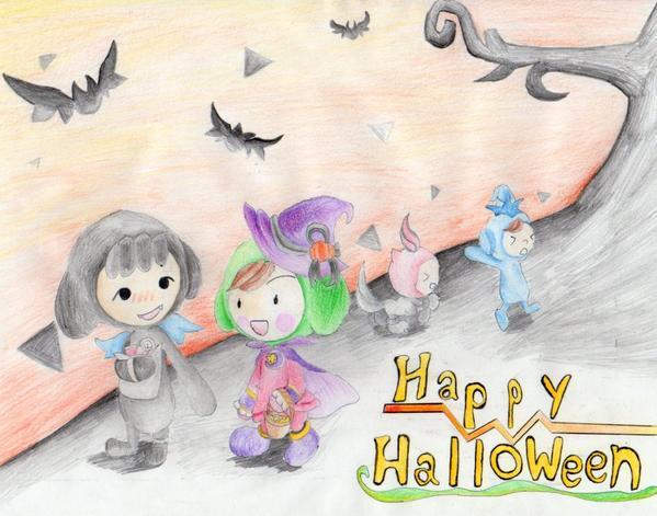 【電波人間のハロウィン2014】とっこべ さんのイラスト