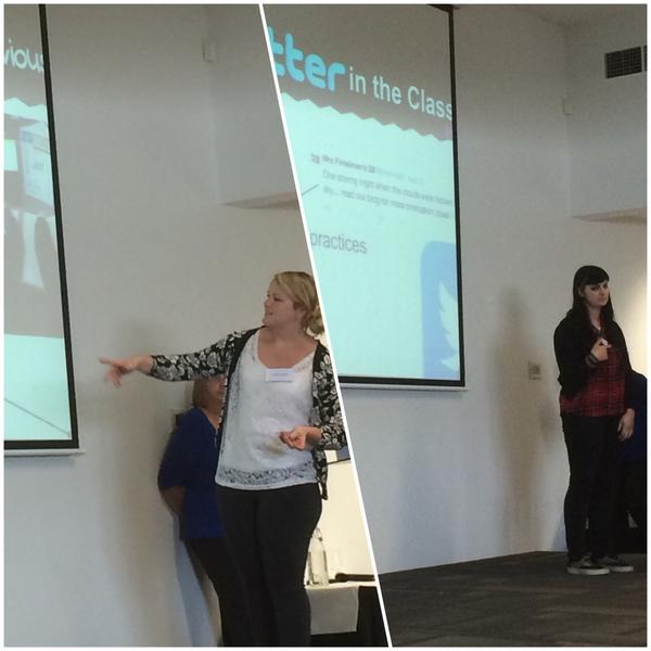 .@AbbeyDockrey & @mrsfint flying the flag for @AitkenCreekPS at #tl21c #impressive #proud http://t.co/8fbSAd1eGL