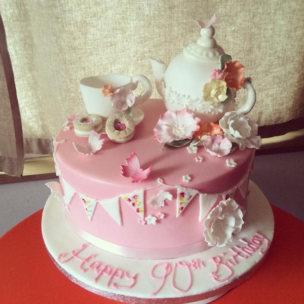 Summerlea Cakes On Twitter Tea Party Cake Handmade Sugarpaste