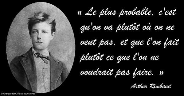 """Evene on Twitter: """"#Citation du jour Arthur Rimbaud >> http://t.co ..."""