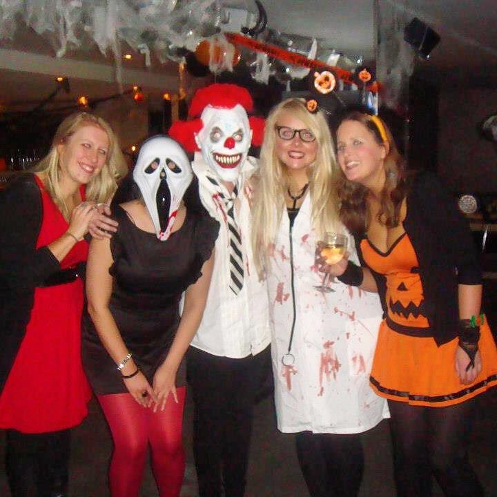 The girl on the left obviously didn't get the memo?   RT @sheriffwyles: @itv2 #ITV2Halloween happy halloween 🎃 http://t.co/y47E40QoML