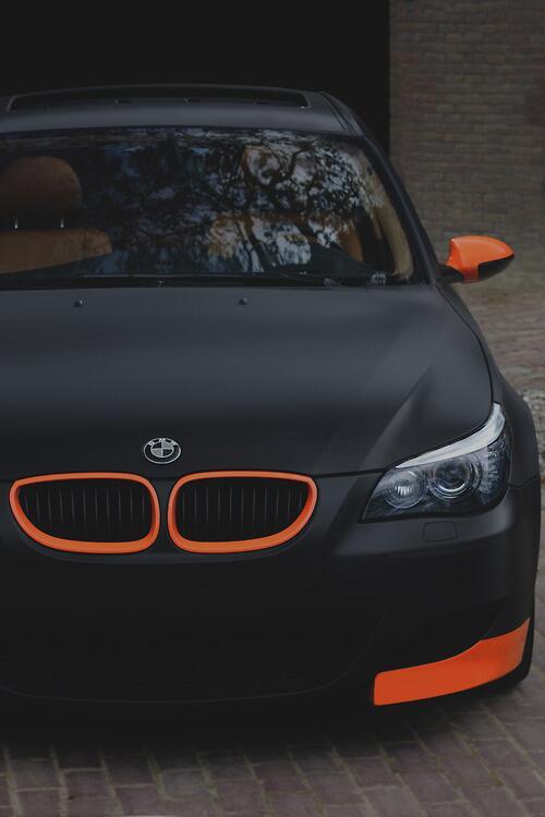 Matte Black BMW >> Matte Black Bmw Orange Details Car Porn Scoopnest