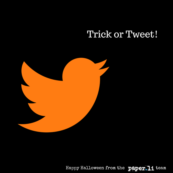 Trick or Tweet? Wishing you a Happy #Halloween! http://t.co/1eagsB64dr