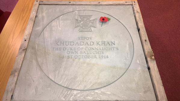 Today we are remembering the first Muslim VC recipient from world war one, Kudadad Khan  #vcpavingstones http://t.co/QSjFYbQF28