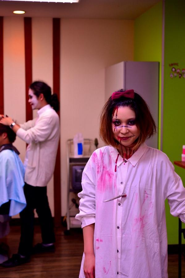 ハロウィンとか関係なしに髪切りに行ったらハロウィン全開でした。  #写真好きな人と繋がりたい #Halloween http://t.co/8yHsQtzMNy