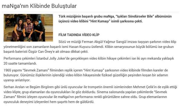 Film Tadında Video Klip
