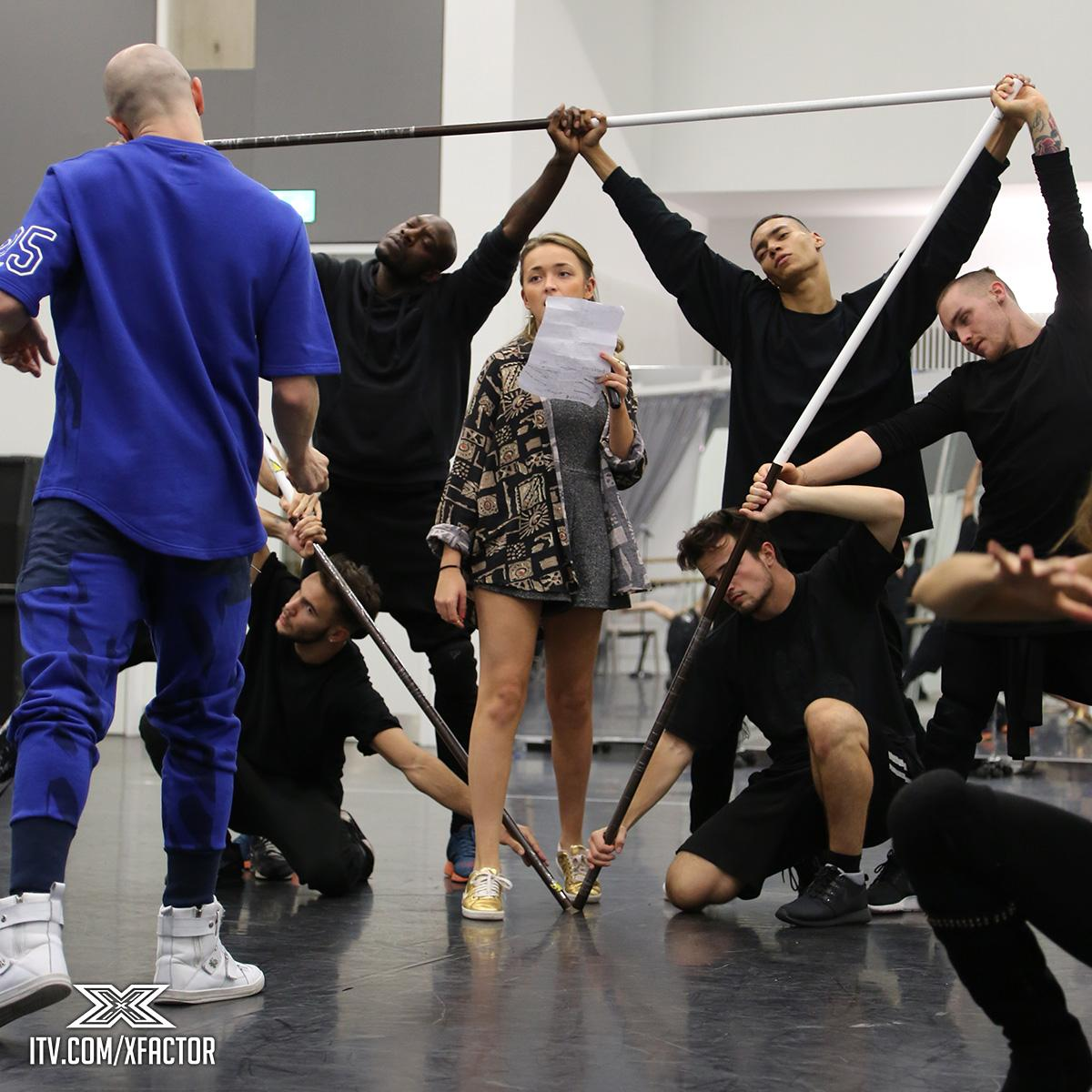 No this isn't some sort of new #XFactor ritual.  #XFactorFrightNight rehearsals are ON... http://t.co/pxQWiLwIHg