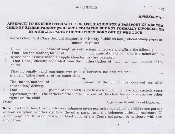 Raveesh kumar on twitter only gender neutral affidavit with raveesh kumar on twitter only gender neutral affidavit with birth certificate required of single parent women can leave para 2 unfilled yelopaper Choice Image