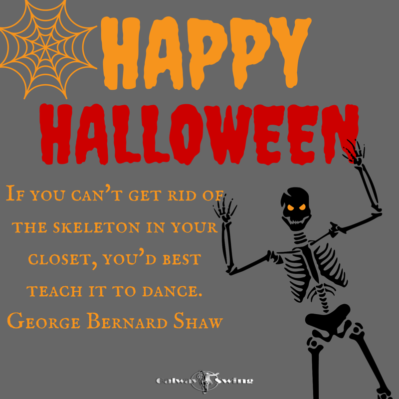 RT @GalwaySwing: Scare, dance and be merry - Happy Halloween everyone :) http://t.co/Z5svdm4Cee #halloween #dancequotes http://t.co/Xqt1Hm0…
