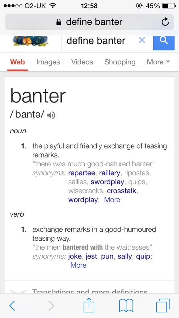 playful banter meaning