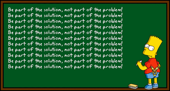 Image result for be part of the solution not the problem