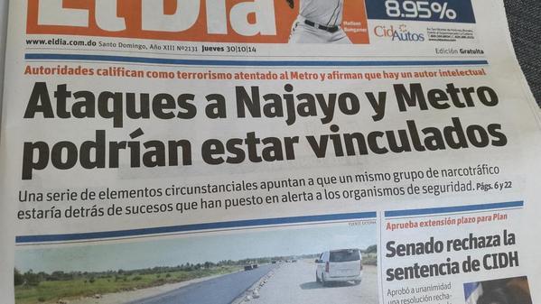 El periódico @ElDia_do sacó lo siguiente http://t.co/UULLVreGHS