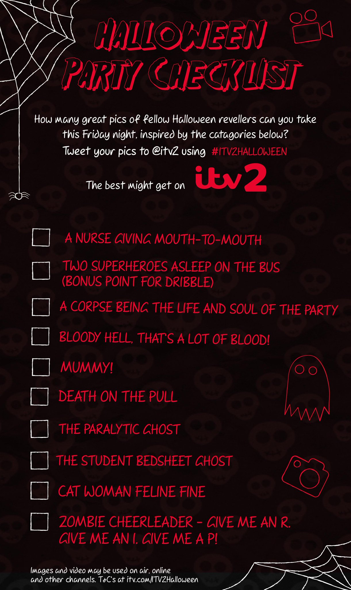 Want YOUR scary pics on TV? Tweet one from our #ITV2Halloween list tonight and you just might! http://t.co/oTT5FUUnpD http://t.co/42TfF68jo5