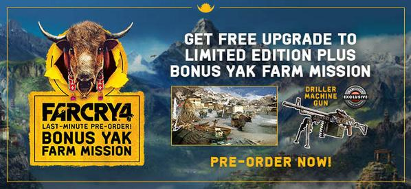 Gamestop On Twitter Be A Hero Save The Yaks All New Existing Farcry4 Pre Orders Get The Bonus Yak Farm Mission Http T Co Zixneysqjw Http T Co Lyl2fg5wax