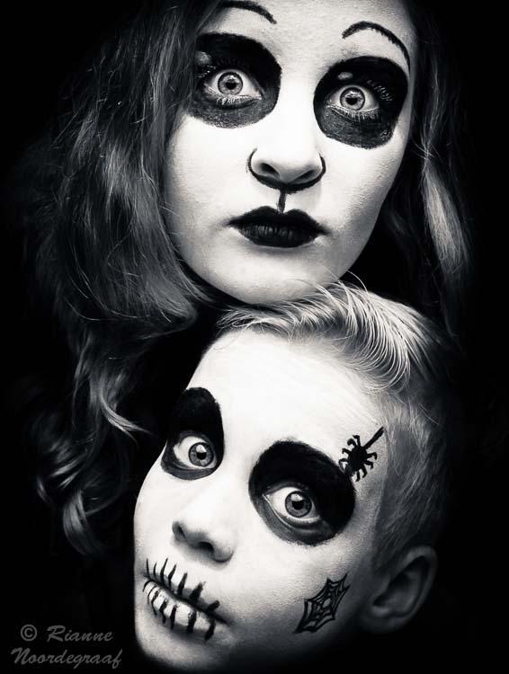 zwart wit schmink