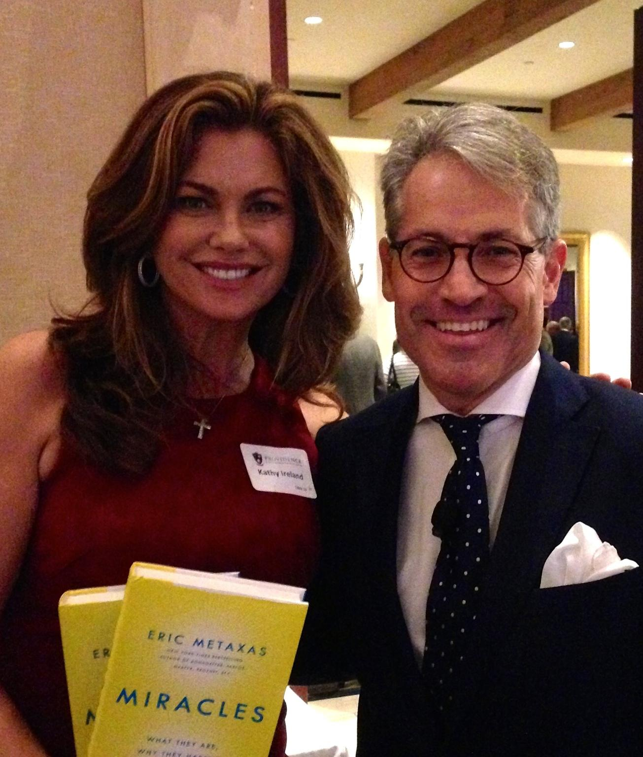 RT @ericmetaxas: Yesterday @HughHewitt interviewed me about @MiraclestheBook for @ProvidenceSB. @KathyIreland is one of the trustees! http:…