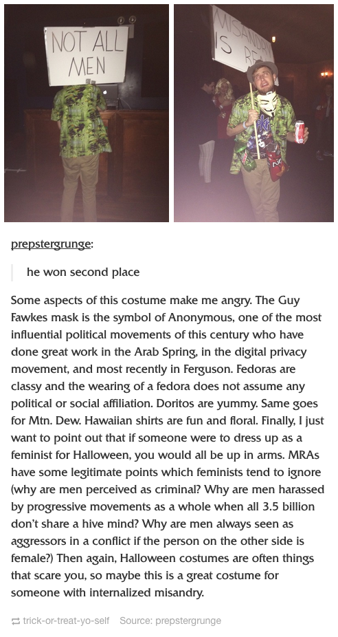 GREAT COSTUME, AMAZING COMMENT  RT @mrtiedt: This is some good #NotAllMen RT @HeyVeronica: IM SCREAMING http://t.co/GyA6q2hQBm