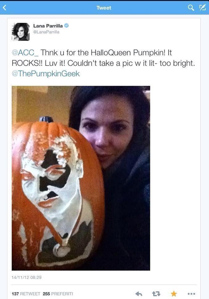 @LanaParrilla I Hope you still have The HalloQueen Pumpkin i sent to you