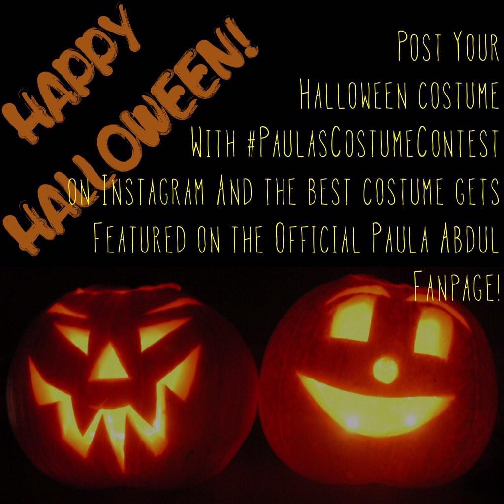 Happy Halloween! Post ur costume on Insta w/ #PaulasCostumeContest & the coolest costume gets featured on my wall! http://t.co/flSxav9ymr