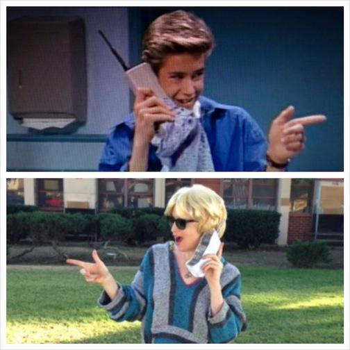 Getting my #ZackMorris costume on! How did I do, @MPG? http://t.co/88oMIacWV1 #SavedByTheBell http://t.co/zxZ3UPB1R6