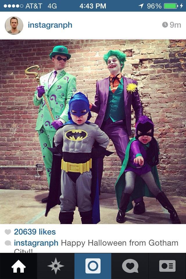 that's trill RT @EmLikesBaseball: Neil Patrick Harris' family always wins Halloween. Always. http://t.co/QlLbqNK68v