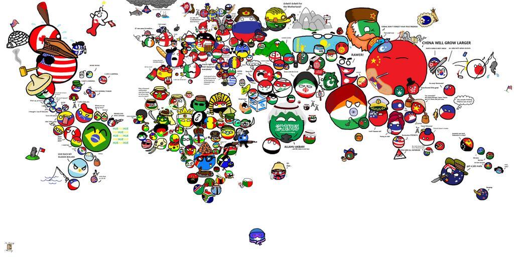 Amazing Maps on Twitter Polandball map of the world httptco