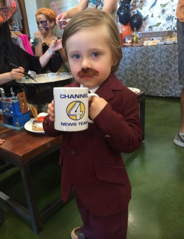 best halloween costume candidate 3 year old ron burgundy ht