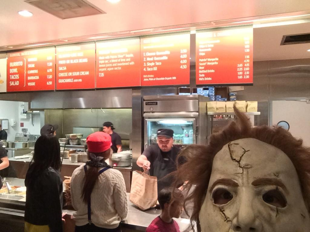 In line at @ChipotleTweets making people very nervous... http://t.co/4toj4bolh3