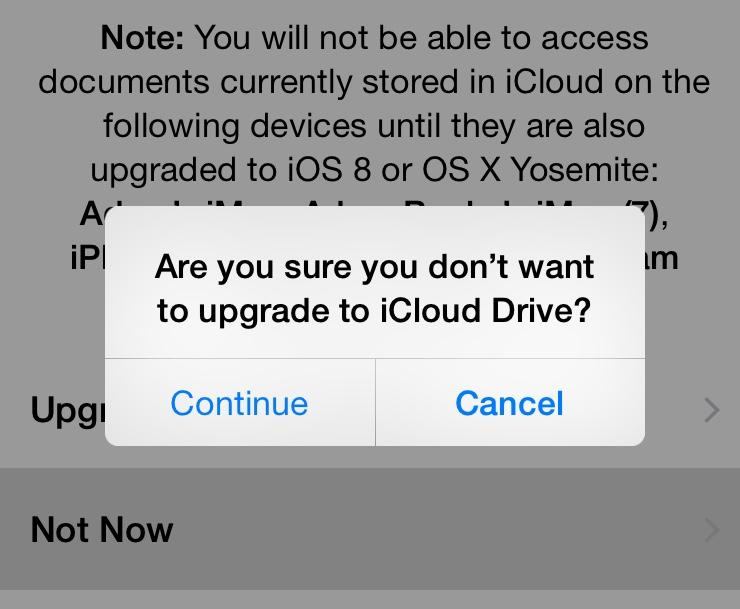 Are you sure you want to continue not upgrading or do you want to cancel not upgrading and continue? http://t.co/9Ca49HFDdN