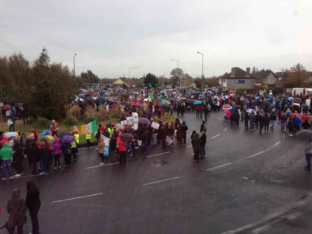 Ireland's Streets Turn to Rivers of People, 1 Million, Wiping Out New Tax on Water #IrishWater  B1XKbGGIUAA6gNu