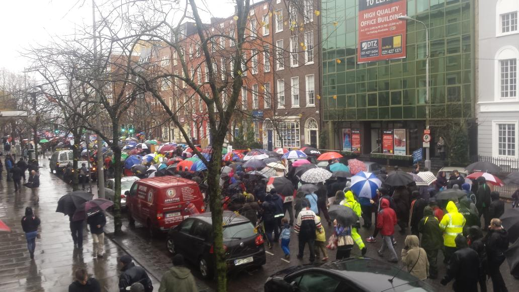 Ireland's Streets Turn to Rivers of People, 1 Million, Wiping Out New Tax on Water #IrishWater  B1XLkNhIgAABsW6