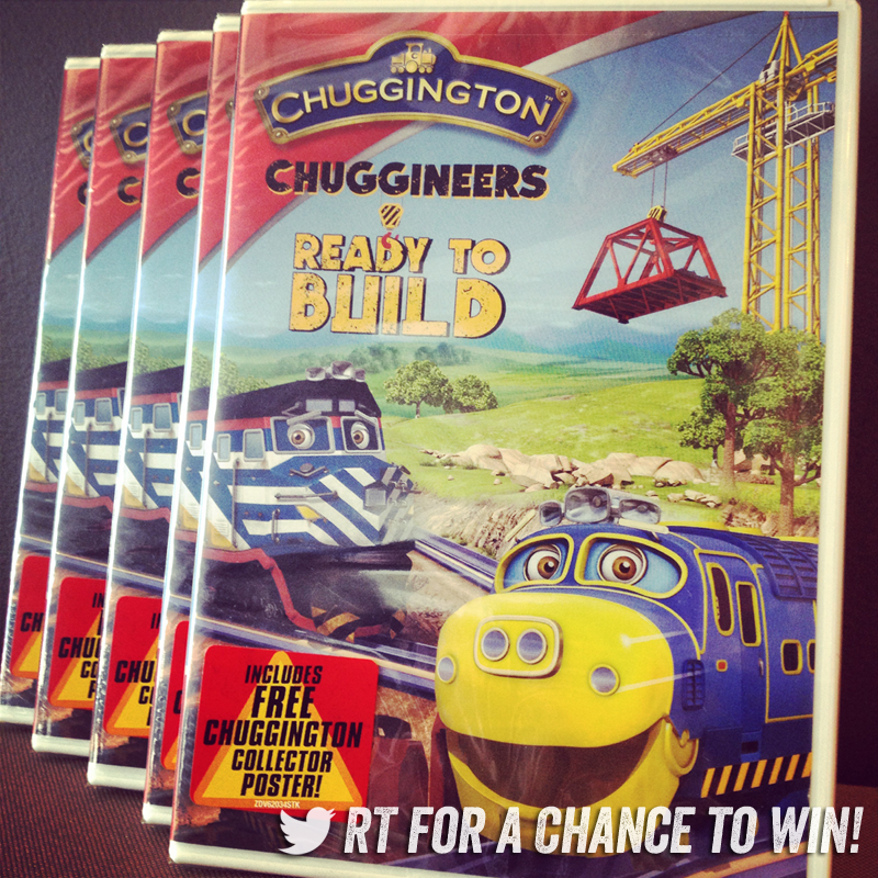 Kicking off November w/ a traintastic Giveaway! RT & follow @Chuggington for ur chance to WIN a new Chuggineers DVD! http://t.co/ttyB3S0jib