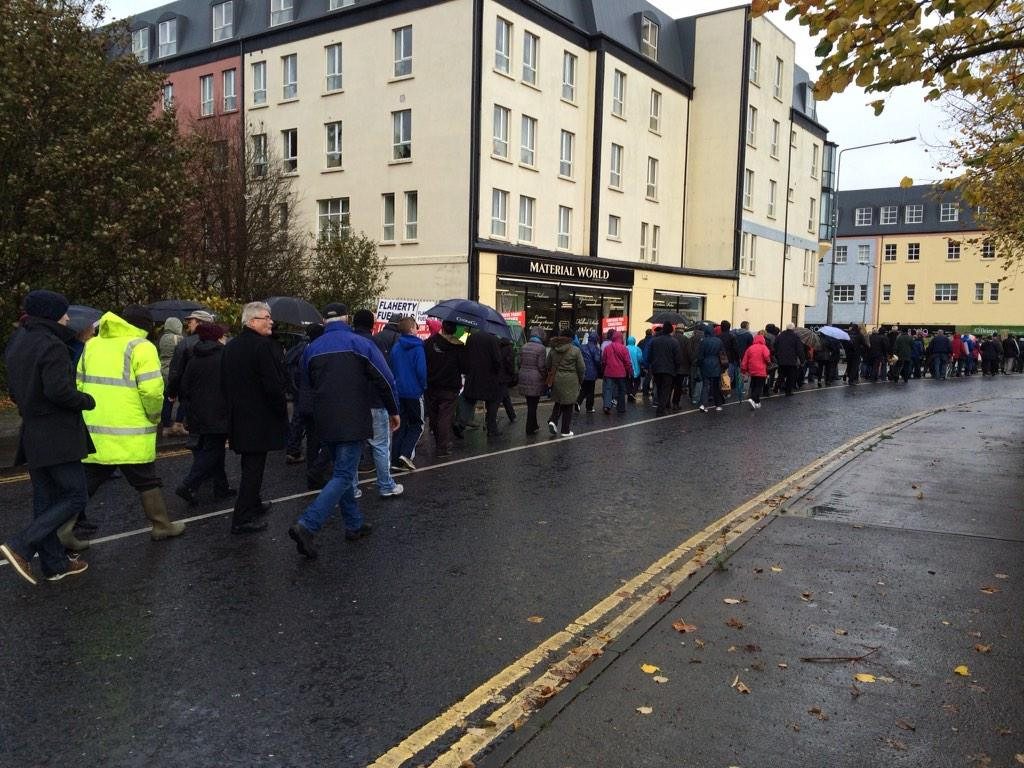 Ireland's Streets Turn to Rivers of People, 1 Million, Wiping Out New Tax on Water #IrishWater  B1XMpJrCYAEI9w8