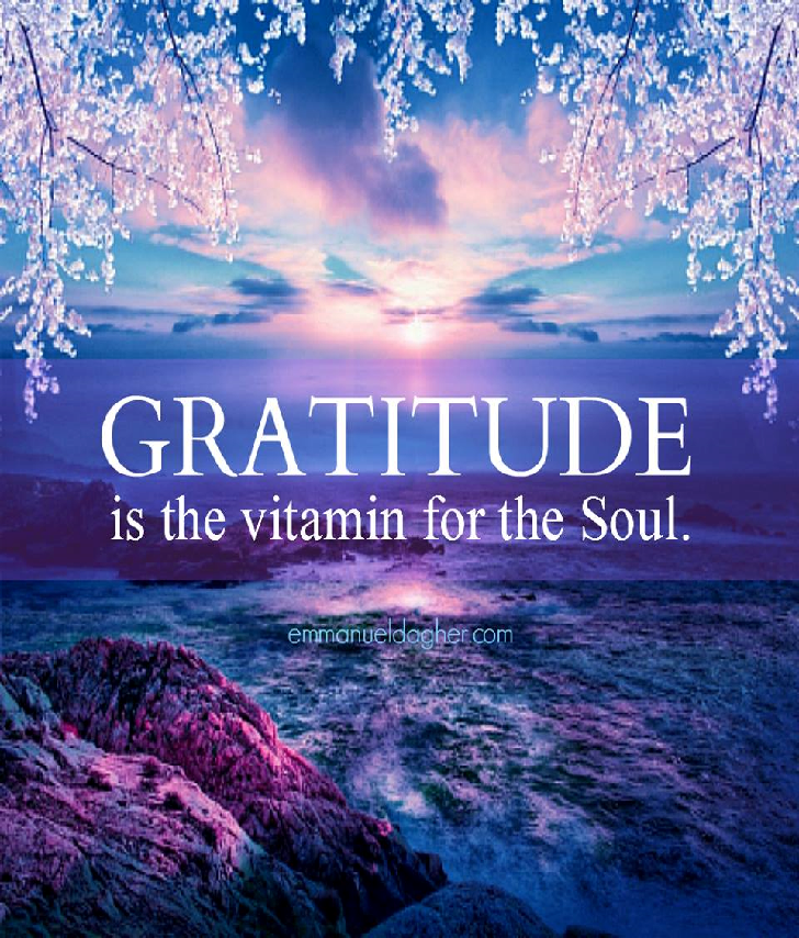 #Gratitude is the vitamin for the Soul.   #JoYTrain #Joy #Love  #Kindness #Quote #MentalHealth #Mindfulness #GoldenHearts #IAM #ThursdayMorning #ThursdayThoughts #ThursdayMotivation #ThankfulThursday RT @CrowdKind
