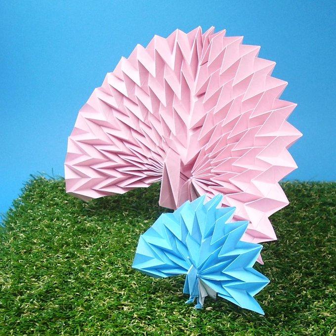 簡単 折り紙 : 折り紙 孔雀 折り方 : togetter.com