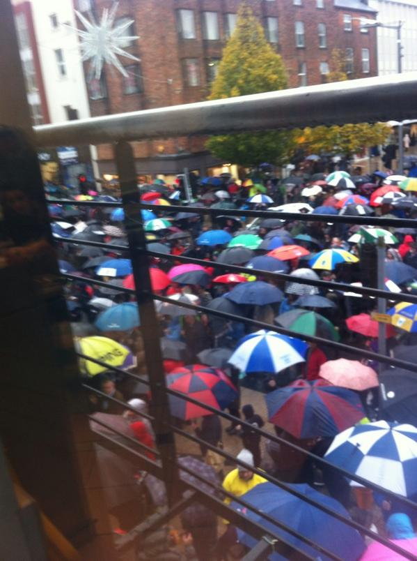 Ireland's Streets Turn to Rivers of People, 1 Million, Wiping Out New Tax on Water #IrishWater  B1XYt_7CcAALF_C