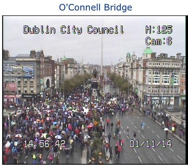 Ireland's Streets Turn to Rivers of People, 1 Million, Wiping Out New Tax on Water #IrishWater  B1XYuUzCAAI-QJJ