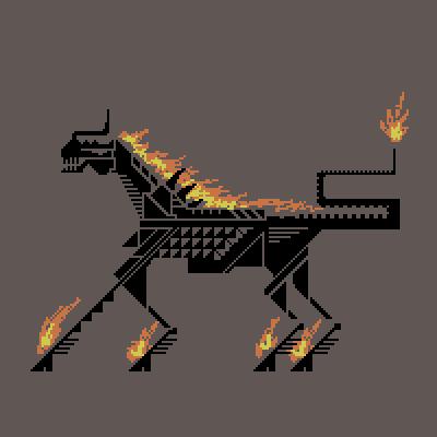 heroes 5 nightmare (buning horse thingy) pixelart