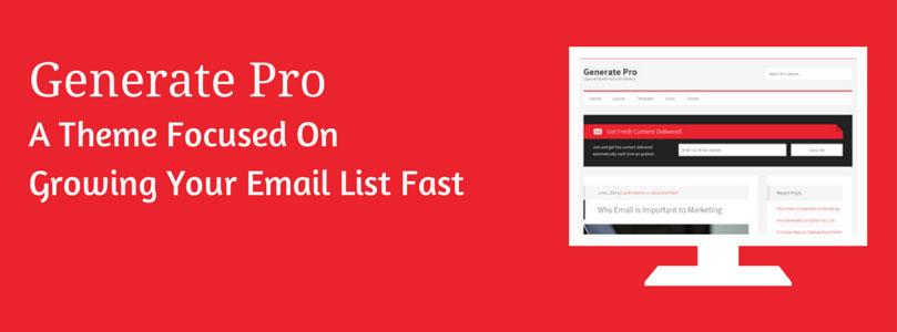 Generate Pro Review – A #WordPress Theme Focused On Growing Your Email List http://t.co/Lch0IFSpbc by @SCorrinBlog http://t.co/kGLTp1h15V