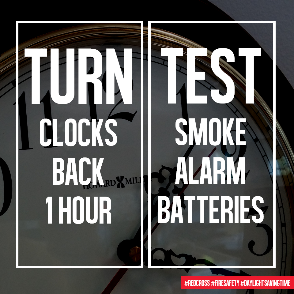 Don't forget to turn back your clock+test your smoke alarm! http://t.co/PY6M4VgzX7 #TurnandTest http://t.co/2cixzKrwcC