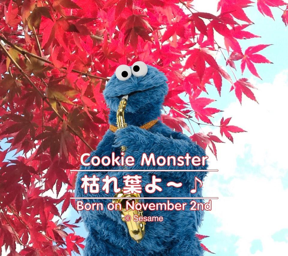 セサミストリート公式 11月2日 今日はクッキーモンスターの誕生日 ハッピー バースデイ クッキー スマホ用壁紙はこちら Http T Co T1b6ymyzew
