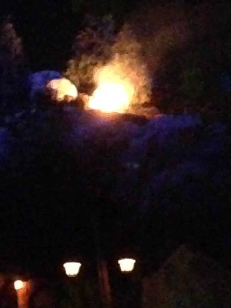 Disney World Seven Dwarfs Mine Train Catches Fire